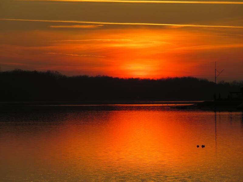 sunset of fire by MomokoShinzoArts