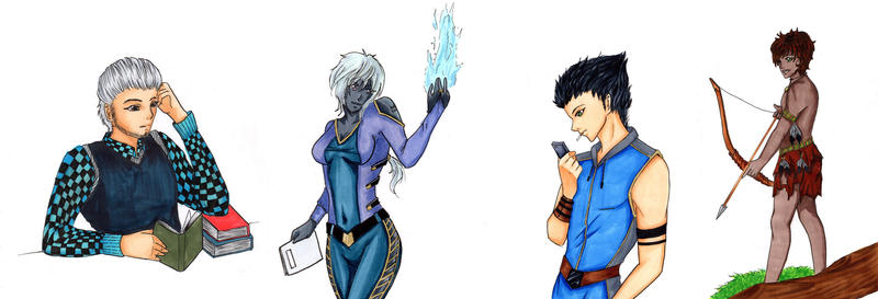 OC Yoki + Kiara + Ranmaru+ Elsu by MomokoShinzoArts