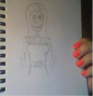 WIP Skeleton girl
