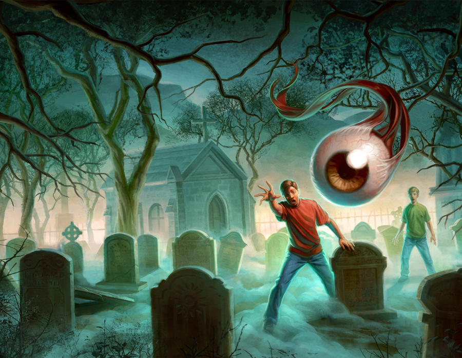 Evil Eye - Paperback Cover Illustration by capprotti