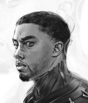 The Black Panther Sketch - Chadwick Boseman