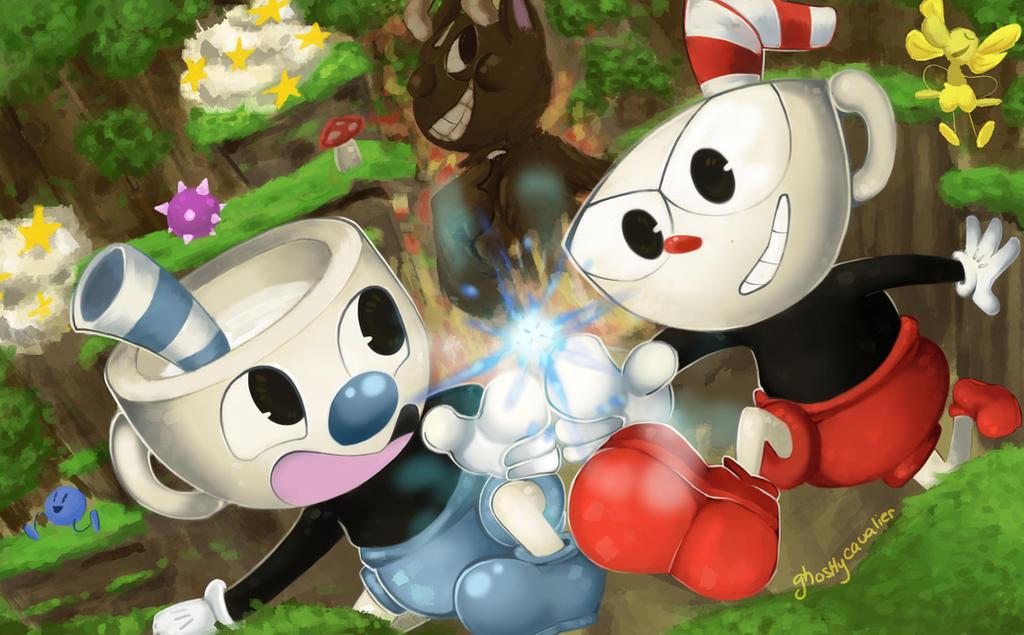 The Cup Bros!! (+Speedpaint!) by ghostlyCavalier