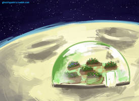 Greenhouse on the Moon