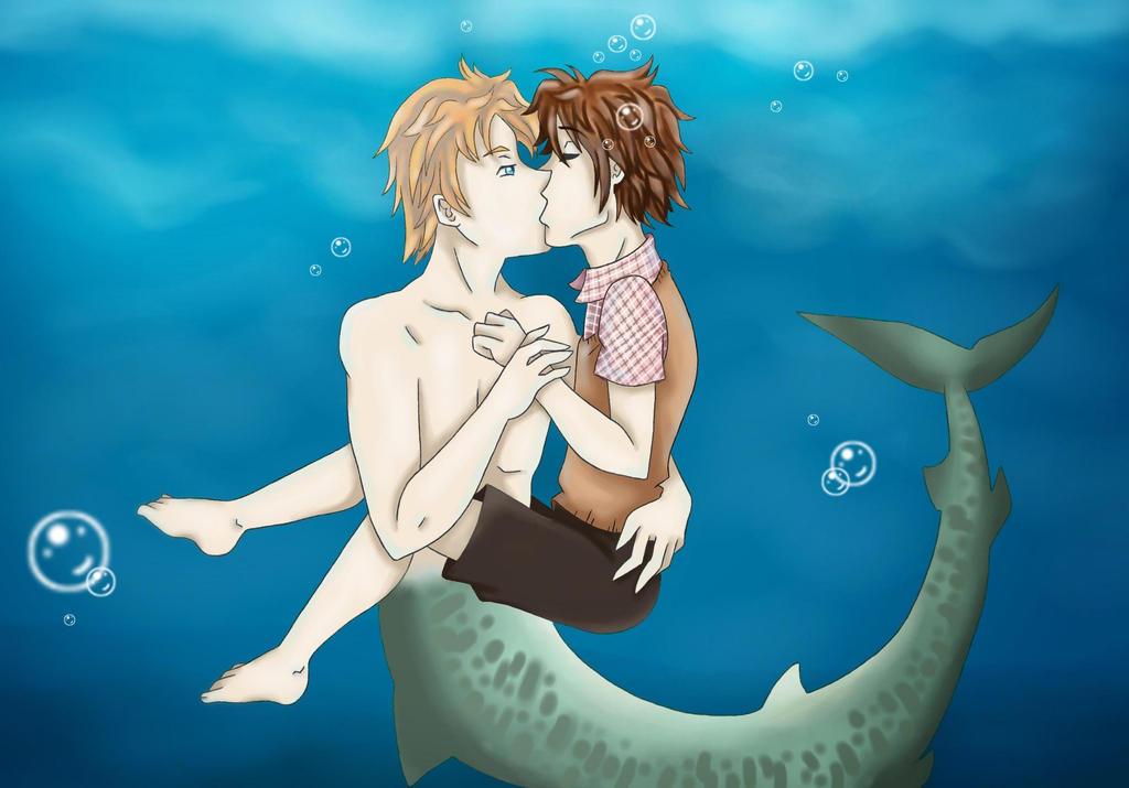 Underwater Kiss by LadyGab