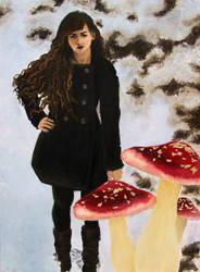 Self Portrait with Mushrooms