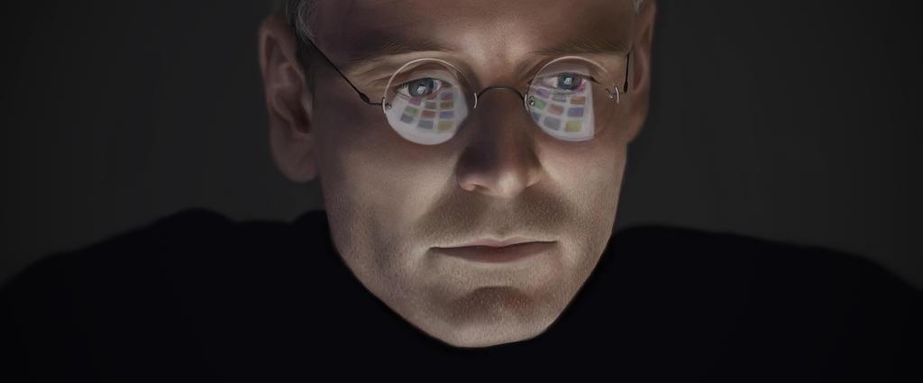 Steve Jobs/Michael Fassbender Painting