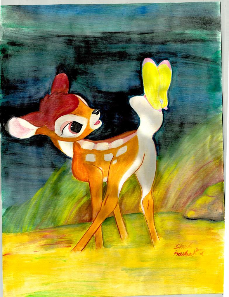 Watercolor Bambi by BlackCharizard006