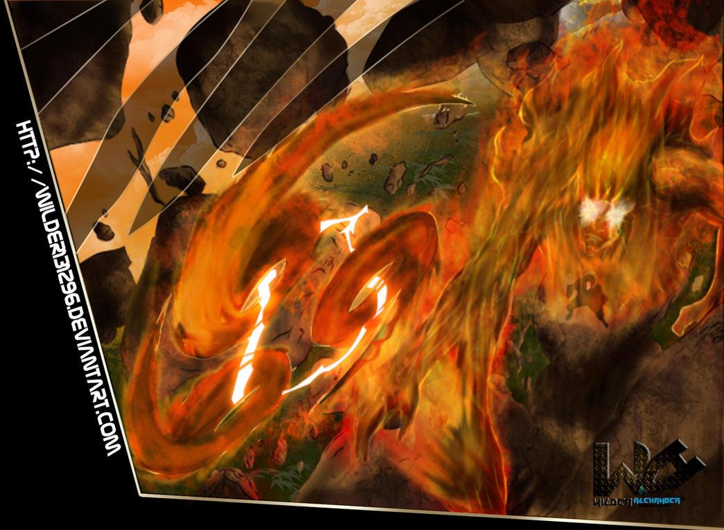 Katon  Fire Release  One of  Uchiha Itachi Susanoo Wallpaper