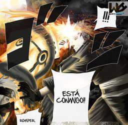 Naruto vs Obito Manga 609 by Wilder131296