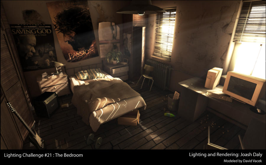 bedroom lighting scene from 3d render by jo411 on deviantart