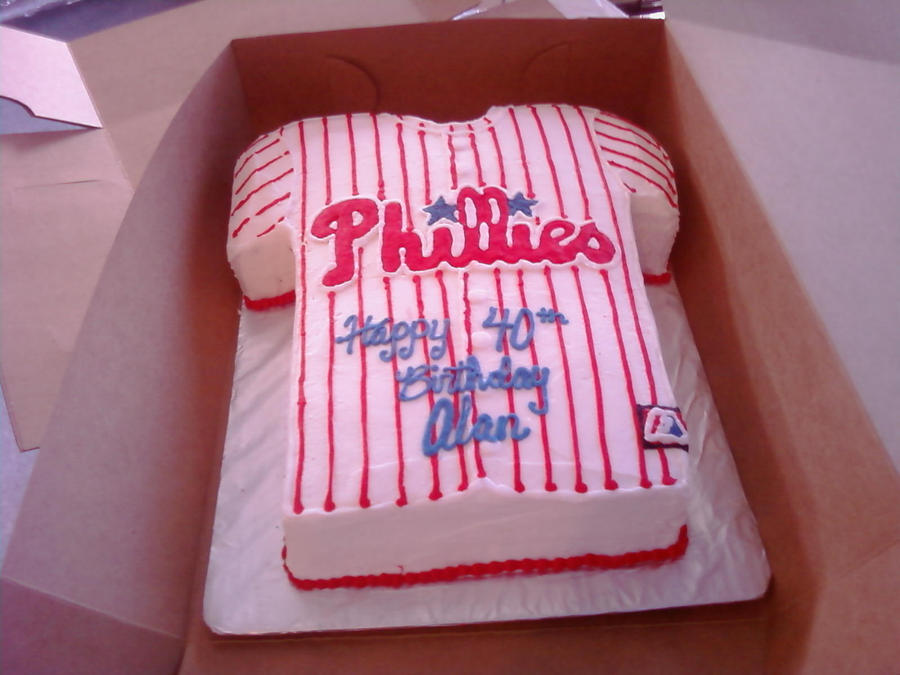 phillies jersey cake by TshirtsForBedSheets on DeviantArt