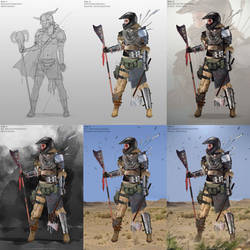 Raider Chieftain Step-By-Step by SivarkArt