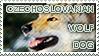 Czechoslovakian Wolfdog Stamp by Czertice