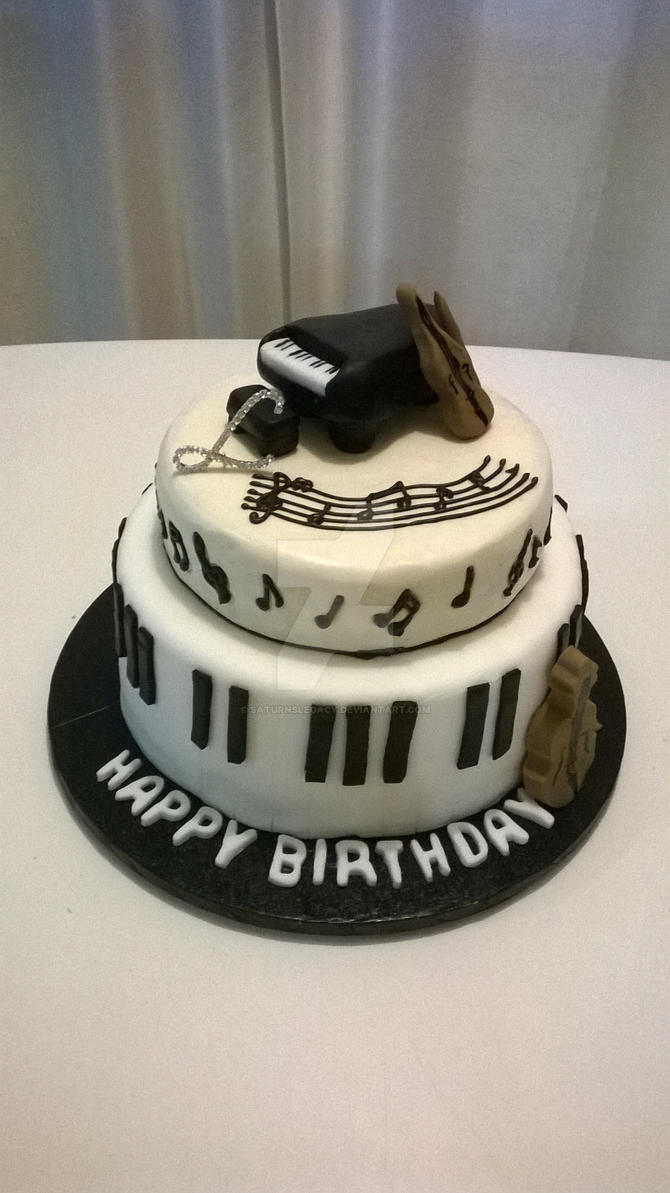 My Brothers 18th Birthday Cake Music Cake By Saturnslegacy On