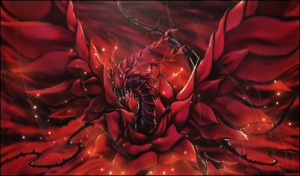 Schwarzer Rosendrache
