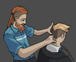 Pixel Dailies - Haircut by 1bardesign