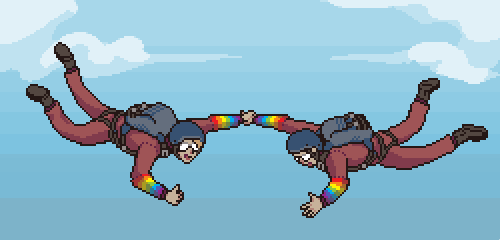 Pixel Dailies - Falling by 1bardesign