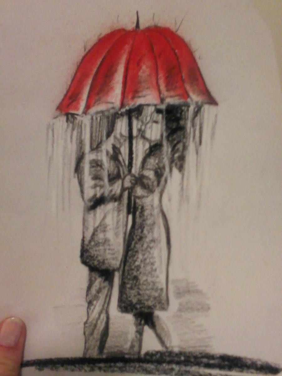 Kissing in the rain by beth6976 on DeviantArt