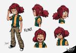 Flint Facial Expressions by Nutshell-Comics