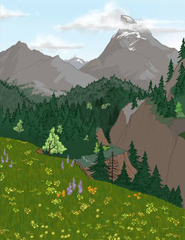 YCH background landscape sketch/Sold