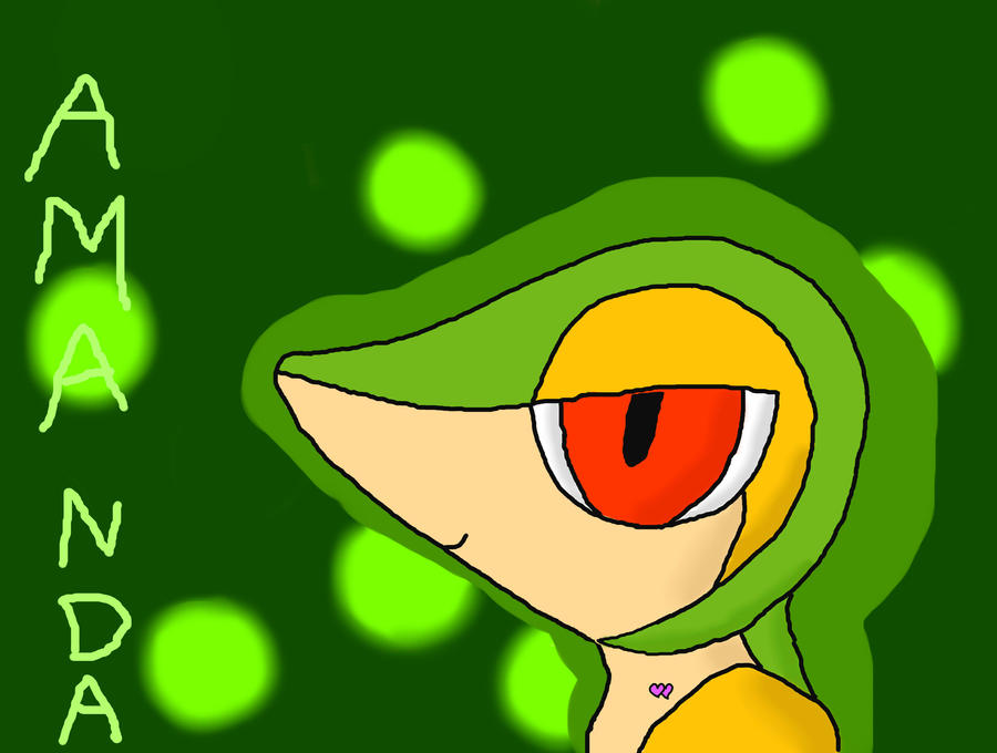 amanda the snivy by TailTehEeveelution