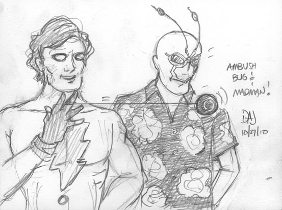 Madman and Ambush Bug by jbacardi