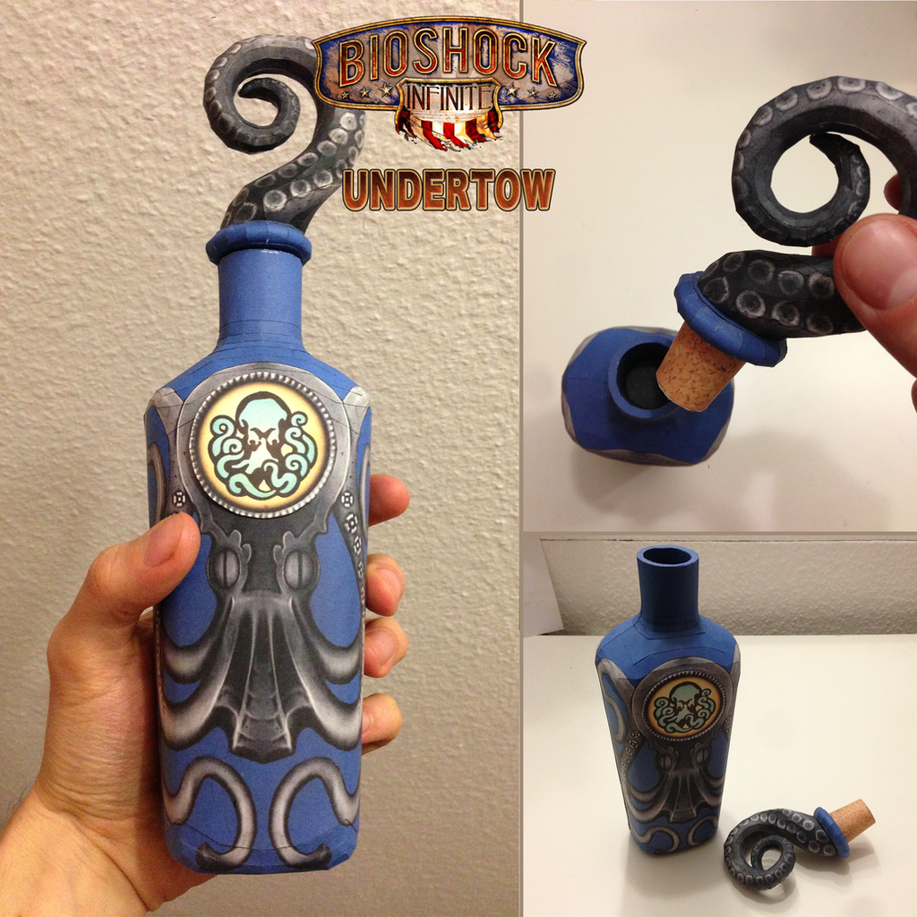 Bioshock Infinite: Undertow Vigor Papercraft by JouzuMania