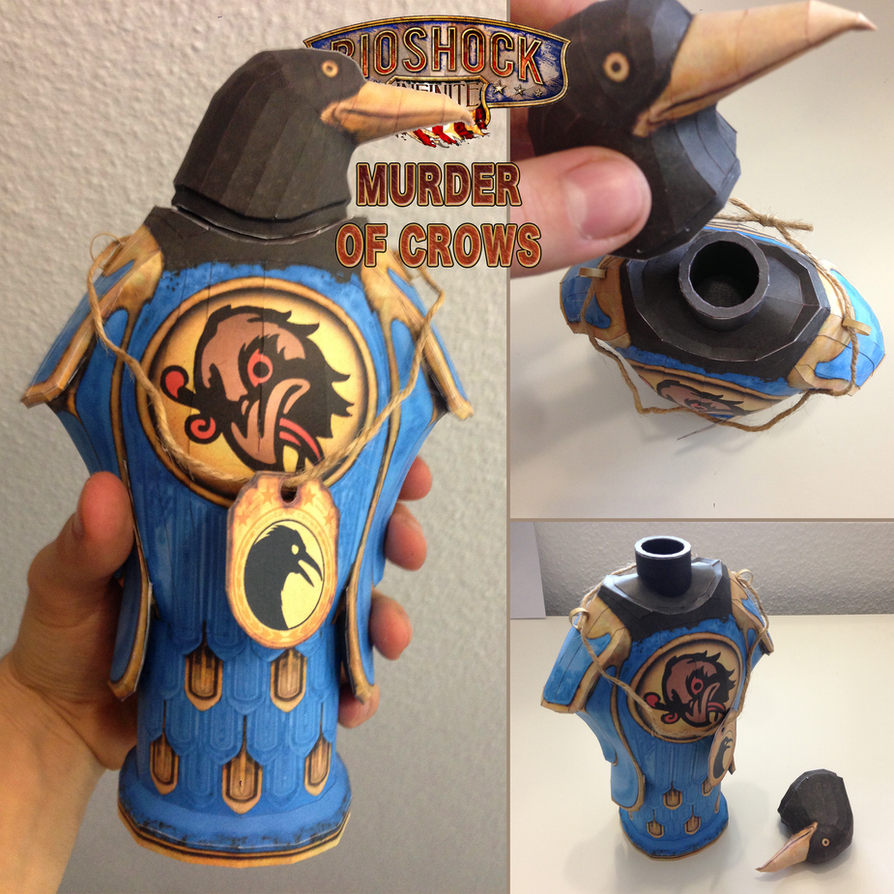 Bioshock Infinite: Murder of Crows Papercraft by JouzuMania