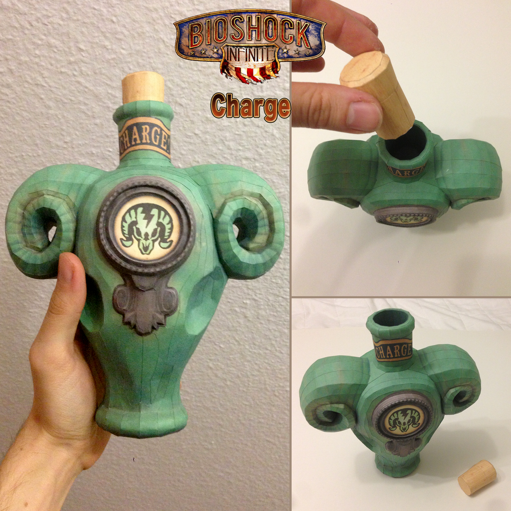Bioshock Infinite: Charge Vigor Papercraft by JouzuMania