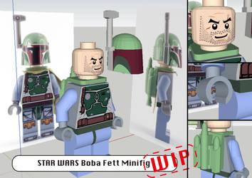 STAR WARS: Boba Fett Lego Minifigure (WIP) by JouzuMania