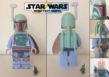 STAR WARS: Boba Fett Lego Minifigure by JouzuMania