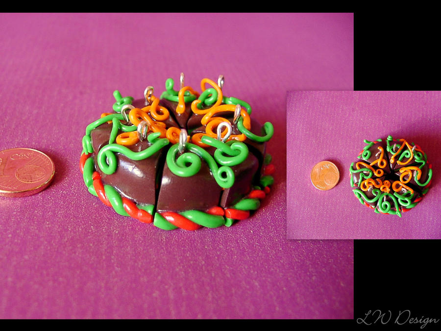 Art I Cake Halloween Charms : Fimo - Halloween autumn cake by LadyxWinter on DeviantArt