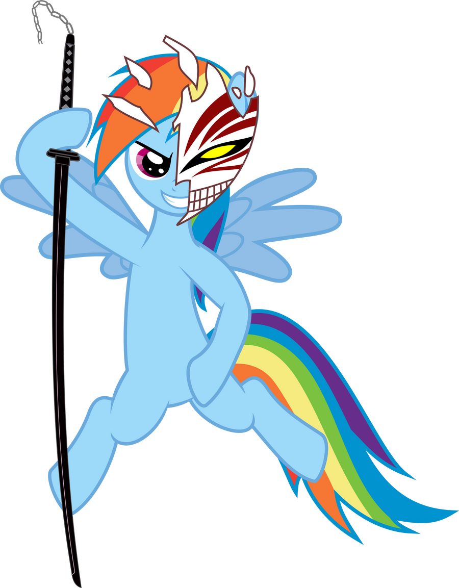 Rainbow Dash Bankai! Bleach Crossover by Baka-Neku