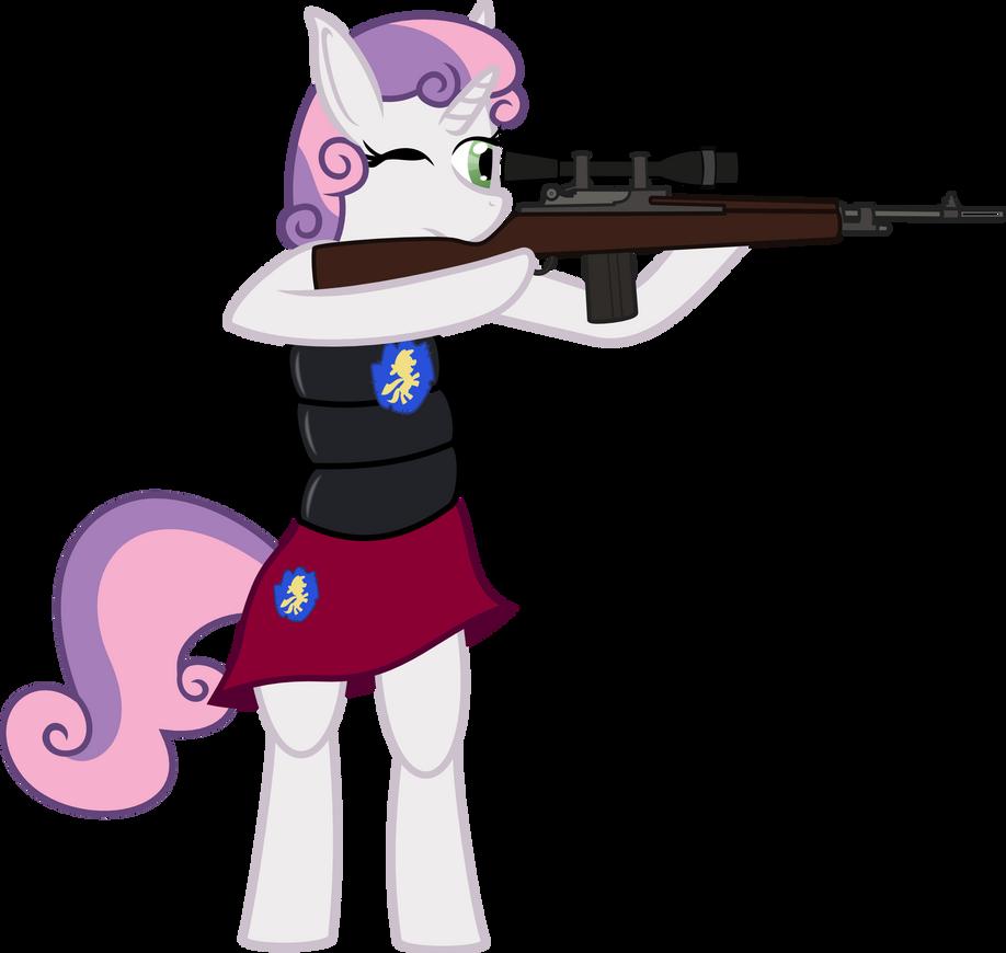 Sweetie Bell Zombie Sniper Vector by Baka-Neku