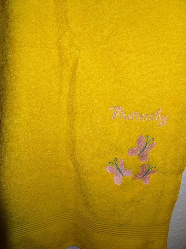 Fluttershy embroidery Towl by Baka-Neku