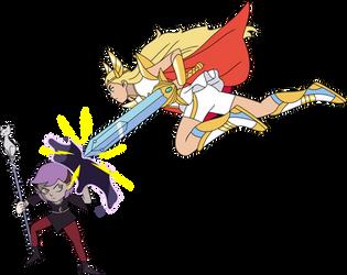 Amity Fighting with Shera