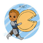 Alistair with Cheesewheel by SyrenCreates