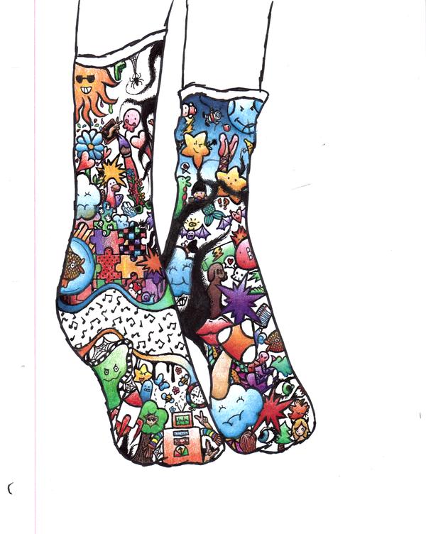 Crazy socks by chocogirl72