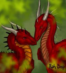 Ria and Nemmy sketch by rah-bop