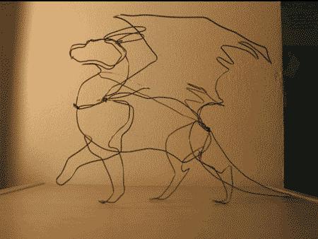 Wire dragon by rah-bop