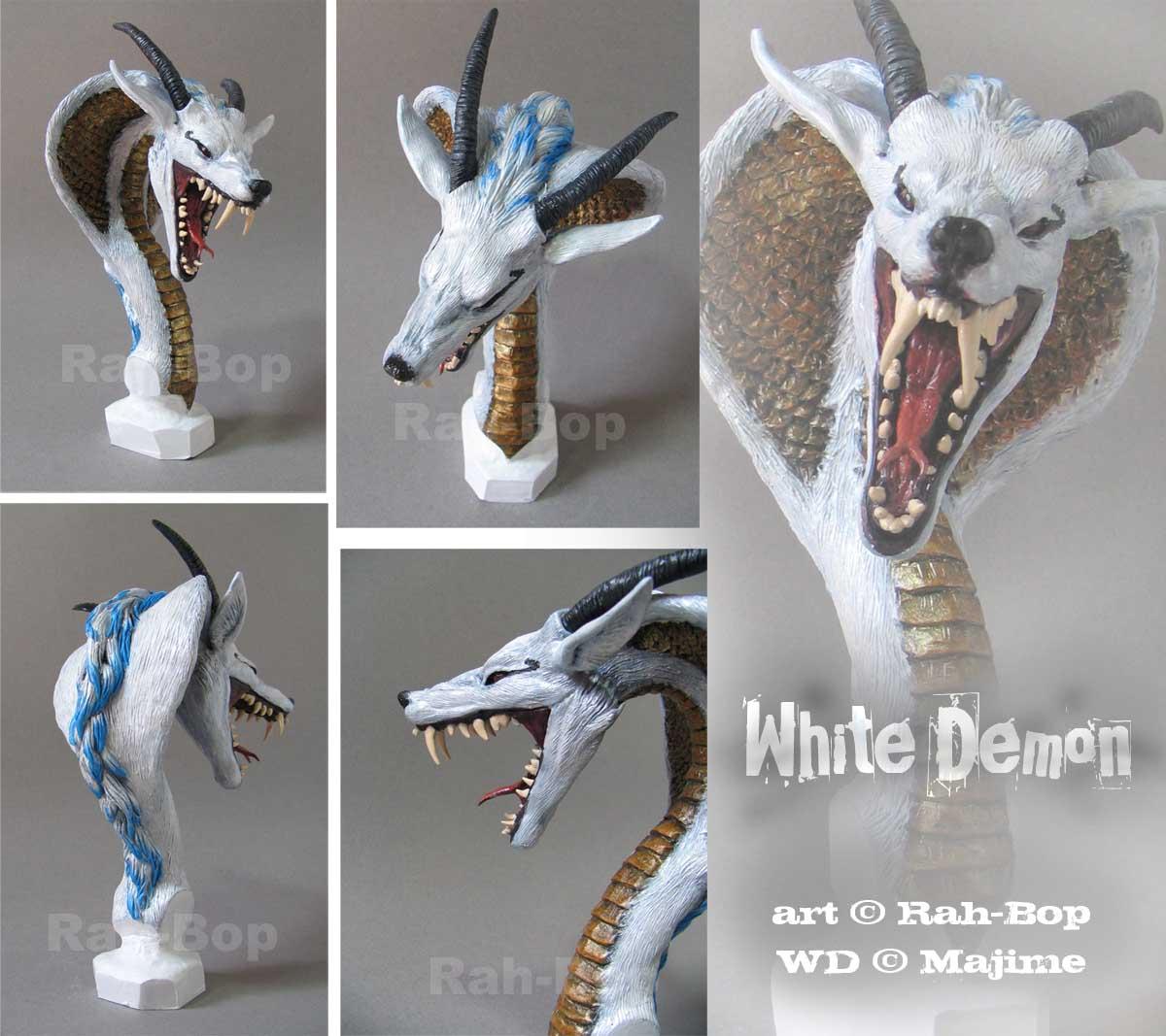 WhiteDemon bust by rah-bop