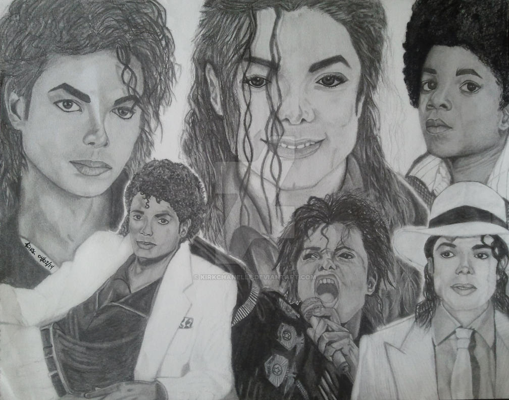 Michael Jackson Drawing (Complete Drawing) by kirkchanelle