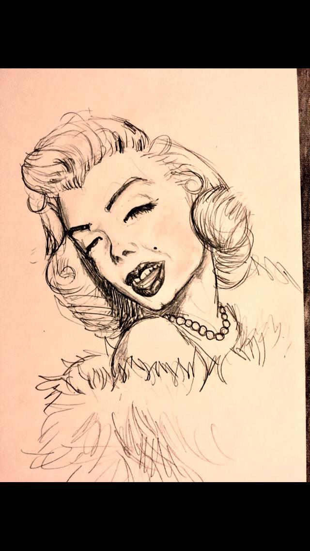 Marilyn Monroe skribble by Beott