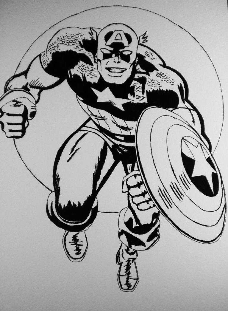 Line Drawing Usa : Captain america line art by jack on deviantart