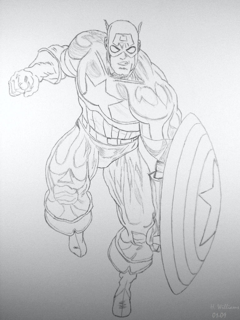 Captain America - Pencil by 12jack12