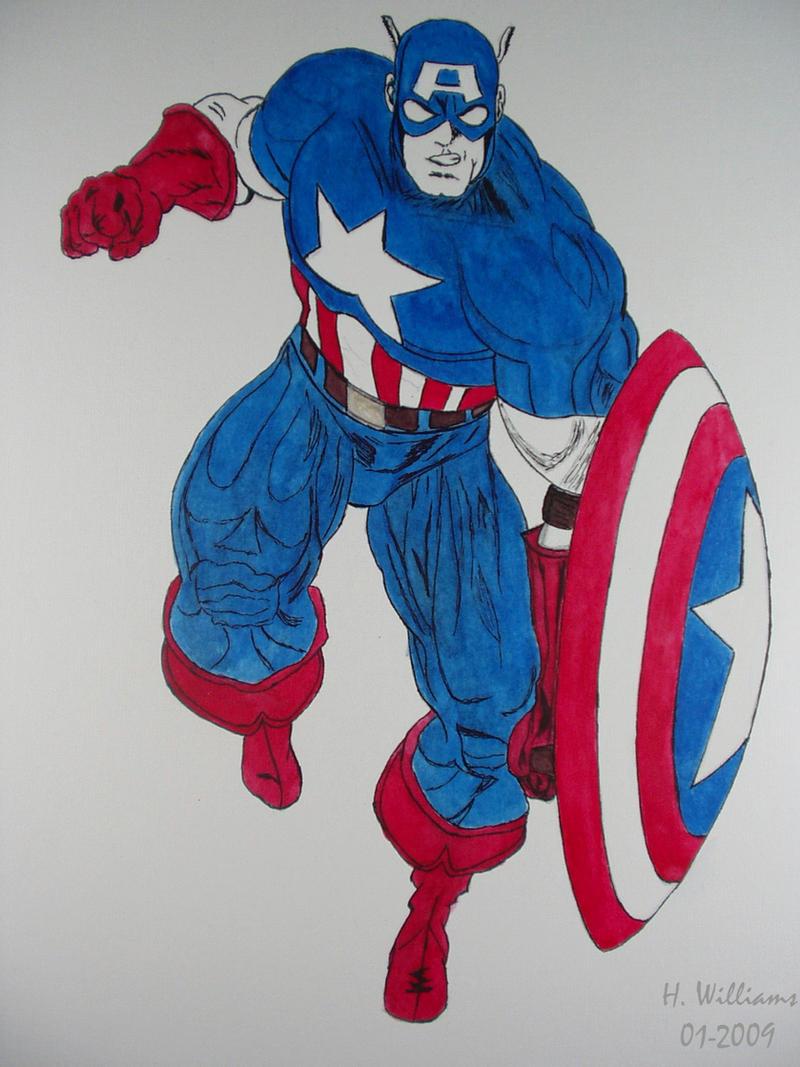 Captian America - Ink wip by 12jack12