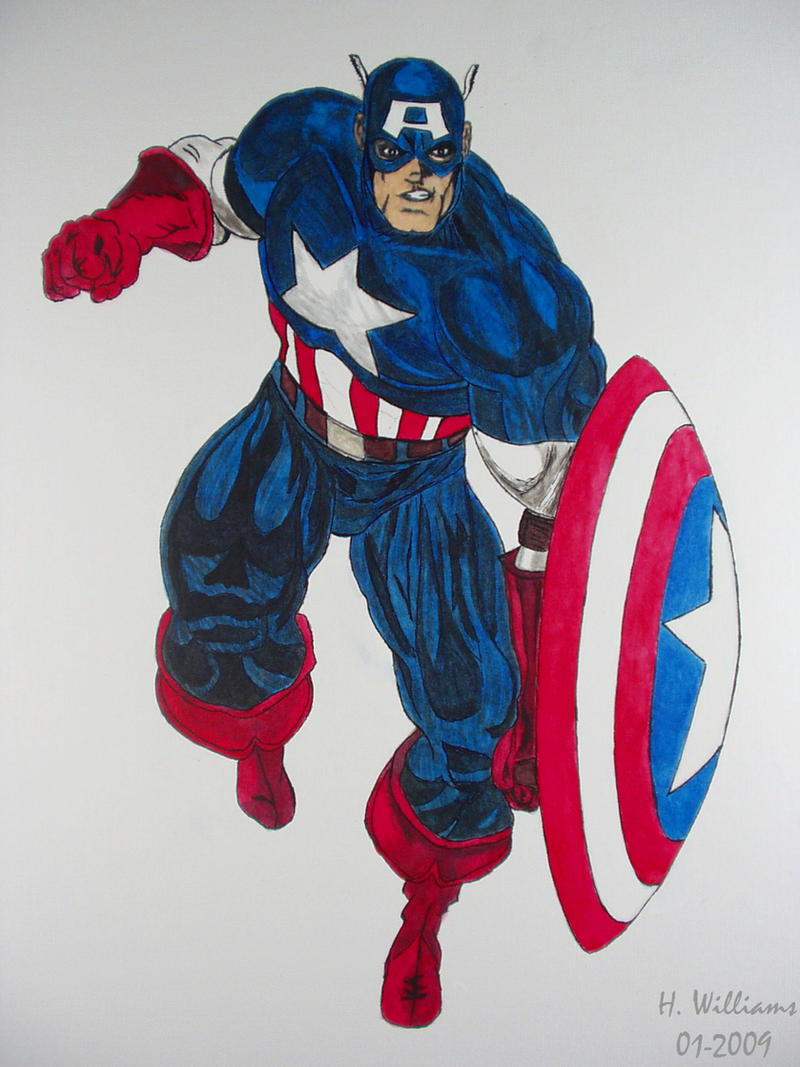Captain America - Inked by 12jack12