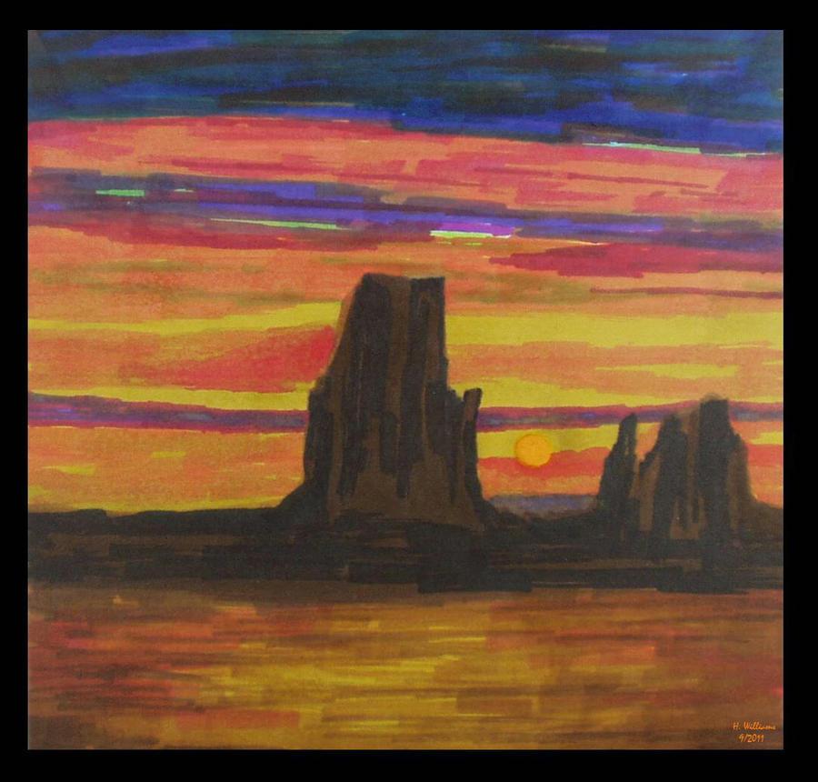 Desert Sunset II by 12jack12