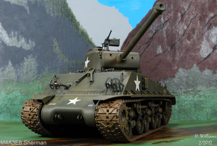 M4A3E8 Sherman Front by 12jack12 on DeviantArt