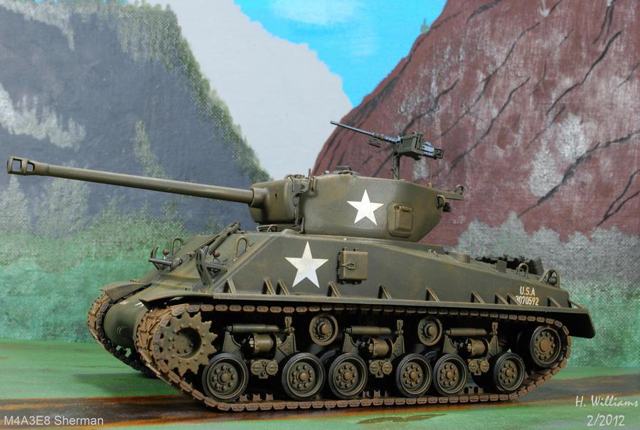 M4A3E8 Sherman Left by 12jack12